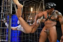 Rat in a Cage: Chance Summerlin Serves Leather Muscle God Max Konnor