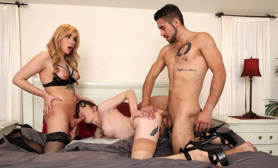 Having The Ex Over: Dante Colle, Lena Kelly & Angelina Please