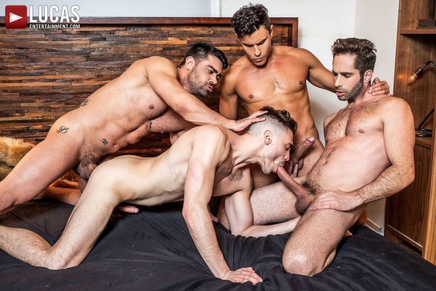 Asher Hawk Services Three Rock-Hard Raw Cocks (Bareback)