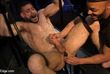 Larkin's Load: Ricky Larkin Bound in Leather, Tickled, and Drained