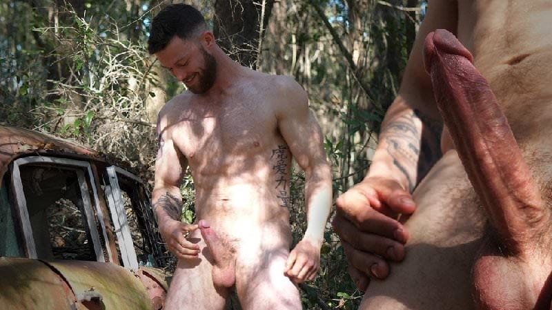 Bearded Man with a Big Veined Dick: Josh
