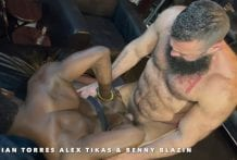 DADDIES ON BLAZIN: Julian Torres, Alex Tikas and Benny Blazin (Bareback)