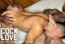 Cock Love: Cutler X, Romeo Davis & Zeno Rey (Bareback)
