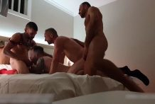 Orgy in Gran Canaria (fucking part 1) with Vadim Romanov and other 2 guys