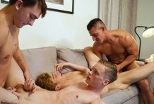 Jax's Twink Fourgy: Jax Thirio, Jesse Bolton, Masyn Thorne & Blake Dyson (Bareback)