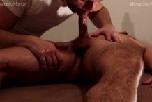 Marc McAulay gets an Erotic Massage and his cumshot is explosive!