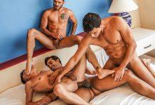 Raw Foursome: Joaquin Santana, Marco Antonio, Pol Prince and Rafael Carreras (Bareback)