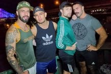 It gets hot at night on the rooftop: Alex Montenegro, Drew Dixon, Romeo Davis & Teddy Torres (Bareback)