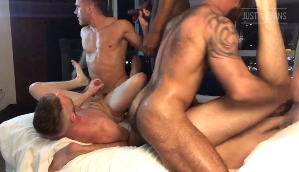 Jake Nicola Orgy, Part 3 (Bareback)