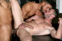 Behind The Scenes, LATINO TRIO: Marcos Oliveira, Lucio Saints & Dann Grey (Bareback)