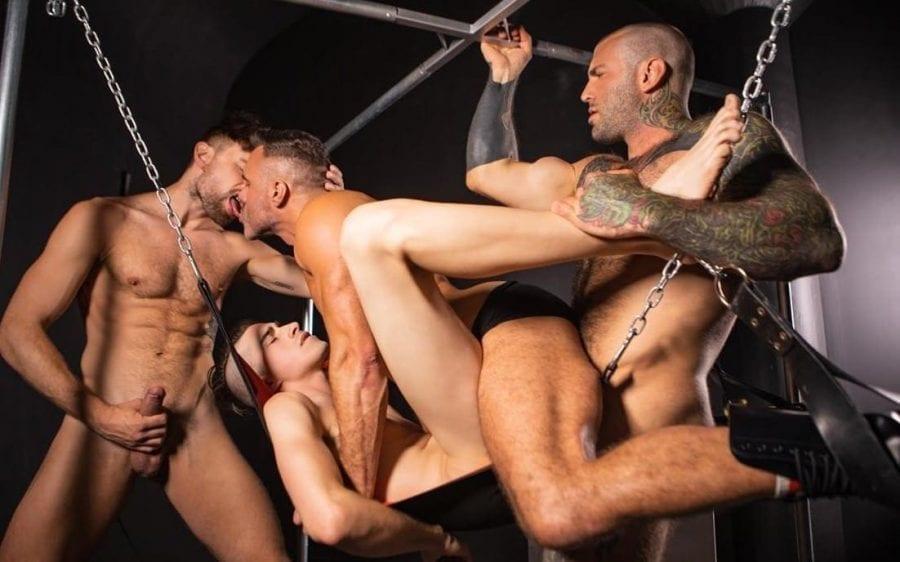 Daddy Sitter, Part 3: Drew Dixon, Jake Nobello, Manuel Skye & Markus Kage (Bareback)