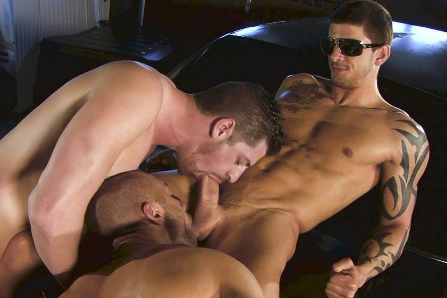 The Long Cock of the Law: Tyler Torro, Andrew Stark & Rod Daily (Bareback)