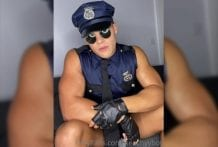 PEACHY BOY (Peachyyboy), Officer Peach Cumming All Over Himself And Eating His Sweet Cum!