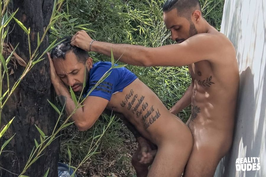 Dudes In Public #68: Behind The Shed, Milo & Julio (Bareback)