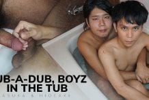 Rub-a-Dub, Boyz in the Tub (Asuka & Hideaki)