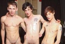 Three Boys In A Bareback Party: Lewis Romeo, Oscar Roberts & Cody Reed