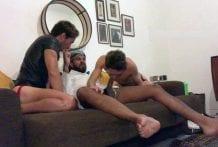 Threesome with Ricvanucci and Boyinthemirror2, Part 1 (Bareback)